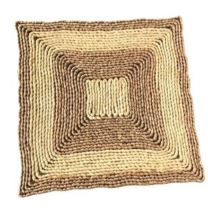 Vintage Bohemian Woven Braided Square Placemats